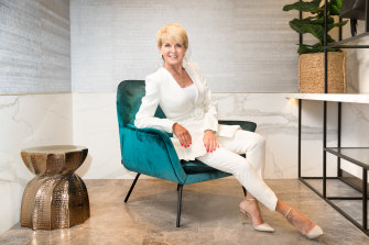 All Right in white: Julie Bishop is all set for the Derby Day races.