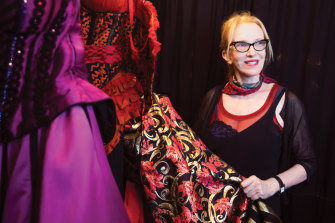 Catherine Zuber with some of the 200 costumes she designed for the musical.