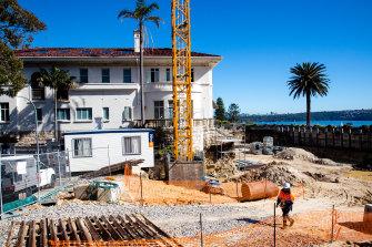 Work continues at Villa Igiea in Vaucluse.