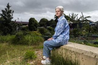 Jill McCawley at the Rosehill garden.