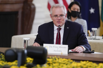 Prime Minister Scott Morrison told India's Narendra Modi and Japan's Yoshihide Suga about the new submarine deal before it was revealed, as they were members of the Quad.