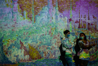 The interactive Monet and Friends exhibition at the Royal Hall of Industries in Sydney.