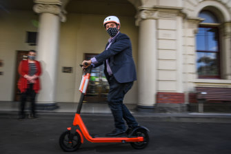 E-scooters are increasing in popularity on Sydney streets, but users risk fines as they are not legal to ride in NSW.