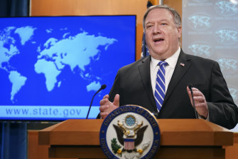 "US Secretary of State Mike Pompeo previously criticised the Chinese Communist Party for threatening Australia with economic retribution for ""the simple act of asking for an independent inquiry into the origins of the virus. It's not right."""