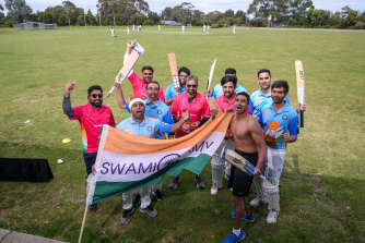 The Swami Army Indian cricket supporters prepare for the Boxing Day Test with a match of their own.
