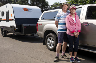 Mike and Sue Bennett-Williams are upset about the rise in the cost of tolls for motorists towing caravans.