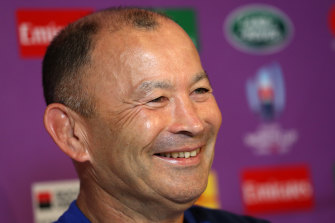 Eddie Jones was bullish about the changed circumstances due to the typhoon.