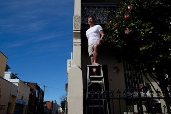 Undie-cover operator: Stephen Adamson can now climb ladders at work with no fear.