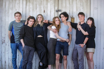 The local cast of Punk Rock: from left,  Laurence Boxhall, Ben Walter, Annie Shapero, Ruby Duncan, Karl Richmond, Flynn Smeaton and Zoe Hawkins.