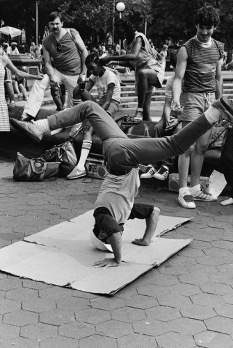 Breakdancing in New York, '80s style.