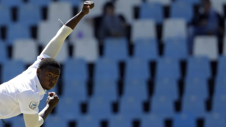 Banned: South African tearaway Kagiso Rabada will miss the rest of the series.