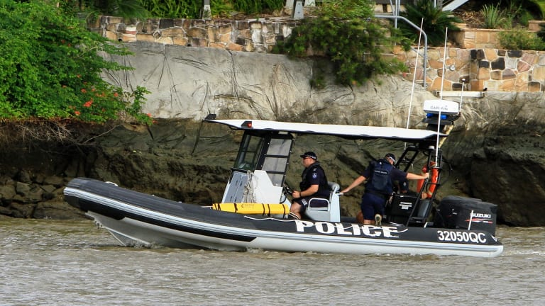 Police are searching the Brisbane River for the missing man.