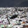 'Floating landfill': huge islands of litter choke Balkan rivers, lakes