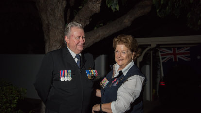 Veterans across Perth light up their driveways for Anzac Day