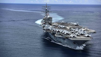 US Navy carrier conducts exercises in contested South China Sea