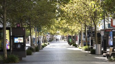 Perth's empty streets during the city's snap lockdown earlier this month.