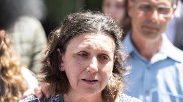 Elena Di Donato, mother of the victim Lisa Di Donato, outside the County Court on Tuesday.
