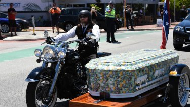 Nick Martin's coffin.