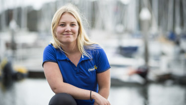 Champion sailor Natasha Bryant who will soon be doing her HSC.