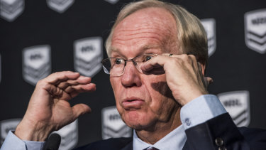 Holding firm: ARL Commission chairman Peter Beattie.