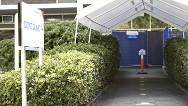 The dedicated COVID clinic at Royal Perth Hospital was deserted.
