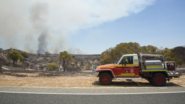 More than 400 firefighters have been deployed to battle the bushfire.