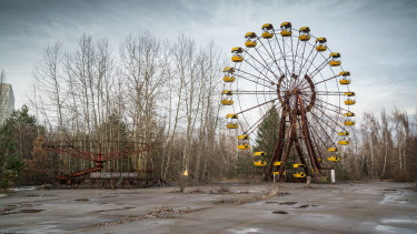 An abandoned amusement park near Chernobyl.