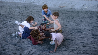 From left, Devin France, Yashua Mack, Ahmad Cage, Gage Naquin, Romyri Ross and Gavin Naquin in Wendy.
