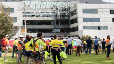 The roof collapse at Curtin University killed one worker and injured two others.