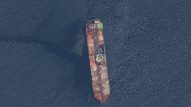 The FSO Nabarima oil tanker off the coast of Trinidad and Tobago.