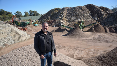 Capital Recycling owner Ray Gullotto at the McLaughlan Road site.
