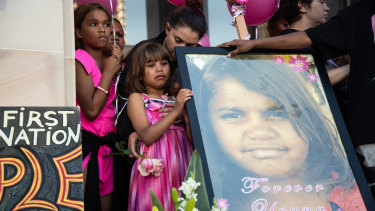 Family members mourn the passing of 11-year-old Annaliesse Ugle.