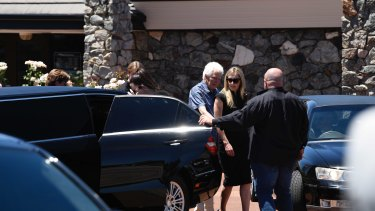 Nick Martin's family leaves the funeral home in North Perth.