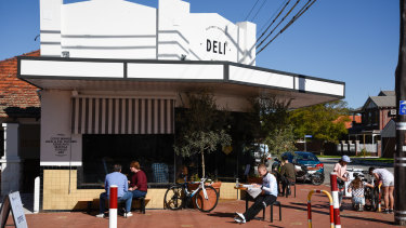 The deli on the corner of Central Avenue and Clifton Street is now a thriving coffee shop.