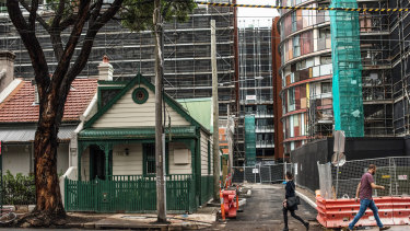The ugly: Topsy-turvy development in Green Square.