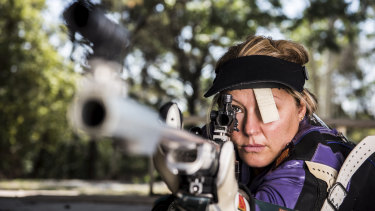 Target shooter Susie Smith owns multiple guns and is not surprised by the number of registered firearms across NSW.