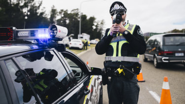 The number of traffic infringement notices being issued in the ACT has dropped but the number of speeding offences has remained much the same.