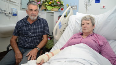 Gail Linton had a lucky escape after falling asleep at the wheel last Sunday.