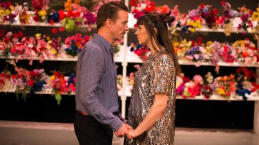 Travis Cotton and Martelle Hammer in '80 Minutes No Interval' at Theatre Works.