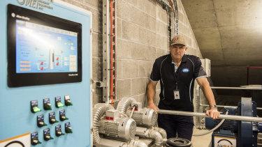 Revolutionary: Bankwest Stadium head curator Graeme Logan with the underground technology.
