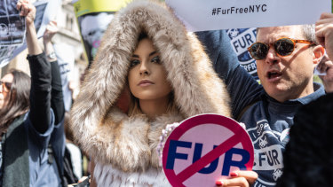 Anti-fur activists  want to see sales banned in New York City.