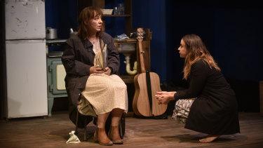 Emily Goddard (Kathleen) and Brigid Gallacher (Annie) in Lamb.