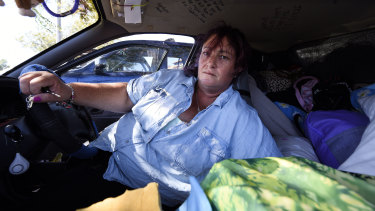 Rochelle Mealey has been in the streets on and off since 2012. She currently lives in her car.