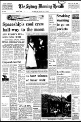 The Herald's front page on July 18, 1969.