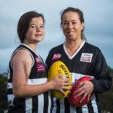 Audrey Brown dan ibu serta asisten pelatihnya, Sarah Gooden.