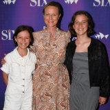 Actress Marta Dusseldorp attended the the opening night with duaghters Maggie (left) and Grace (right)