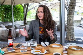 Comedian Zoe Coombs Marr at Bodhi Vegan.