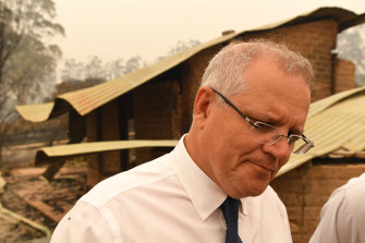 Scott Morrison is feeling the heat of locals' anger amid the devastation of the bushfires.