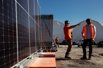 Solar panels developed by Sydney-based 5B could be deployed in Sun Cable's planned giant solar farm in the Northern Territory to supply Darwin and Singapore with low cost and zero-emissions electricity.
