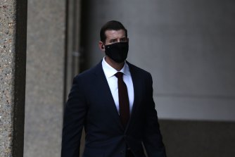 Ben Roberts-Smith arrives at the Federal Court last Thursday.